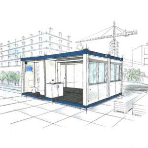 bürocontainer mieten kosten pro tag - Containeranlage - Wohncontainer mieten - Arbeitsstättenverordnung Pausenräume - Containeranlage - wohncontainer mit küche und bad