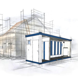 bürocontainer mieten - mobile Duschen