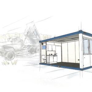 wohncontainer kaufen, Bürocontainer mit Küche und WC. Mieten Sie jetzt Ihren Raumcontainer in NRW. - Container Abmessungen - Container Bürocontainer