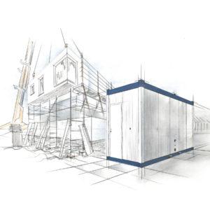 bürocontainer mieten kosten pro tag - Container 20 - Baustellen Container - 10 fuß container - container vermieten