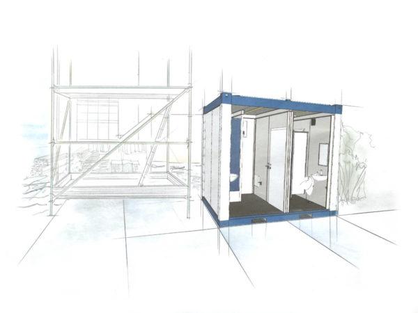 Duschcontainer mieten - mobile duschen mieten