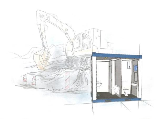 Sanitärcontainer NRW - toilettenwagen mieten