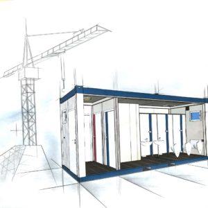 WC Container - Baustelle Container - bürocontainer maße - container mieten mönchengladbach - Container mieten Mönchengladbach - container mieten köln - mobile Duschen