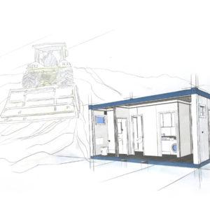 bürocontainer mieten kosten pro tag - WC-Container - Baustellen Container
