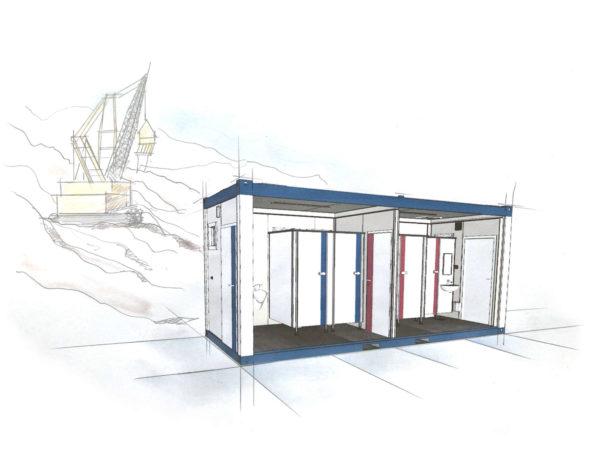 Sanitärcontainer mieten - container mieten nrw