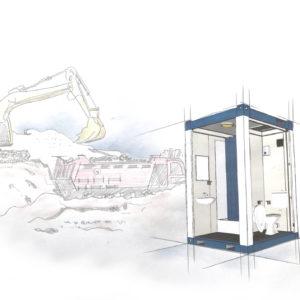 Toiletten Container - mobile Umkleiden - mobile umkleidekabinen