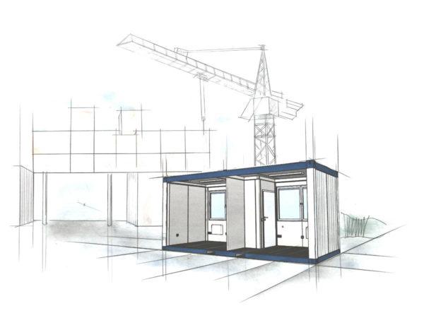 bürocontainer mieten, bürocontainer mieten kosten pro tag, bürocontainer mieten nrw, raumcontainer standard mit wc und kueche 20 ft - Container Grösse - Wohncontainer Preise - Container Preis - Container Preise Köln
