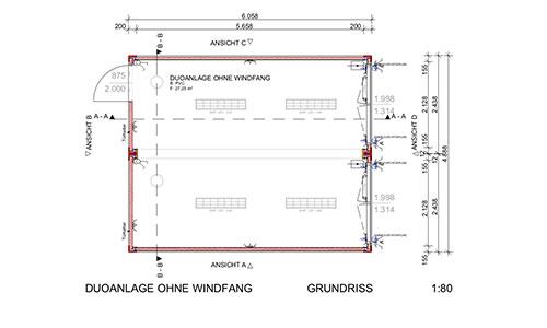 raumcontainer standard mit wc und kueche 20 ft