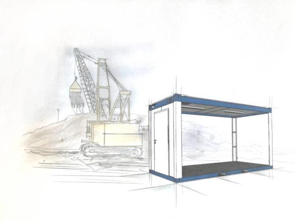 raumcontainer standard mit wc und kueche 20 ft - Container Anlage - bürocontainer preise -